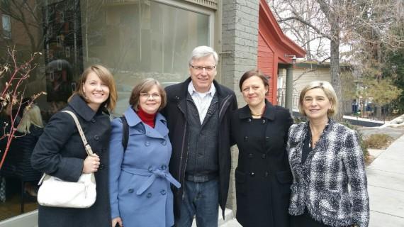 Jamie Justice, NAMI-Utah Director; Jackie Rendo, activist; Pete; Francisca Blanc, NAMI Development Director; Azra Juillerat, past NAMI Utah President.